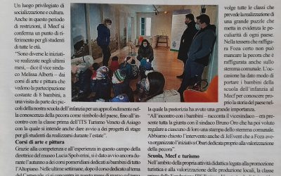 Il MECF di Foza apre le porte alle scuole – articolo dal Giornale Altopiano