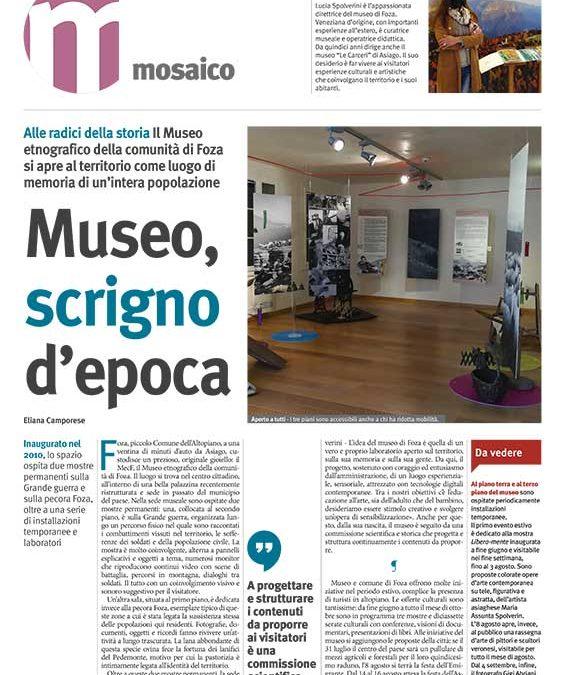 Museo, scrigno d'epoca – dal settimanale LA DIFESA DEL POPOLO, di Eliana Camporese
